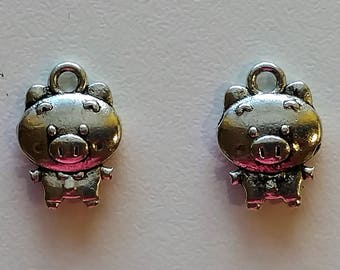 3D Pig Charms  (2)