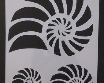Nautilus Beach Seashell Sea Shells Custom Stencil FAST FREE SHIPPING