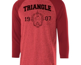Triangle Typhoon Raglan (black text)