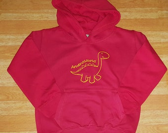 Custom Named Dinosaur Hoodie