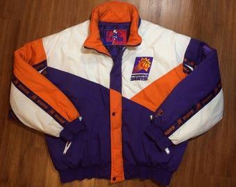 Vintage phoenix suns jacket mens 2xl xxl xl 90s nba charles barkley pro player