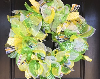 GreenBay Packers Tulle Mesh Wreath