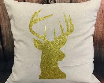 Customizable Reindeer Pillow