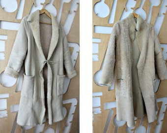 Reversible coat Wool coat Winter coat Women's coat Long coat Shearling coat Sheepskin coat Fur coat Swing Coat Festival Hippie Hipster Boho