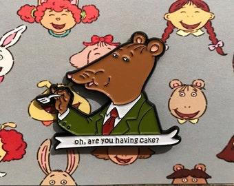 Mr. Ratburn Arthur Pbs Enamel pin