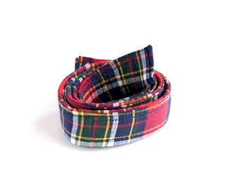 Red Plaid Belt for Boys - Children's Belts - Cotton Belts for Kids - Buckleless Belt - Potty Training Web Belts for Boys - Boy's Belt
