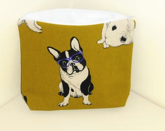 French Bulldog Makeup Bag, Frenchie Cosmetics Bag, Boston Terriers Make Up Bag, Boston Terrier Cosmetics Bag, Frenchie Makeup Bag,
