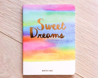 Cute small notebook 'Sweet Dreams' #2 | Cute Stationery