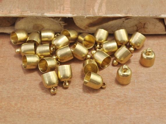 Pcs raw brass end caps metal cap connectors tassels