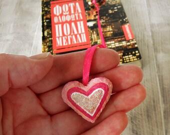 Paper mache heart bookmark, matchbox art bookmark, paper heart bookmark, gift for her, valentines day gift, for mom, gift for reader