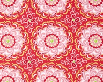 Carina Contempo Adore Rose Floral Mandala Cotton Fabric from Carina collection by Amanda Murphy for Contempo by Benartex