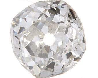Diamond loose old mine cut .33 carat antique vintage |  H - i  |  Si2  | antique cushion brilliant cut diamond | circa 1800's