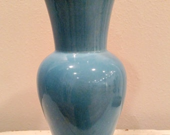 """Red Wing 10"""" Blue Vase No. 1300 1940's"""