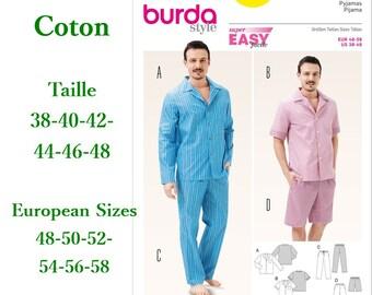 Burda, 6741, Pyjamas, semi-fitted, cotton, pattern new, uncut,