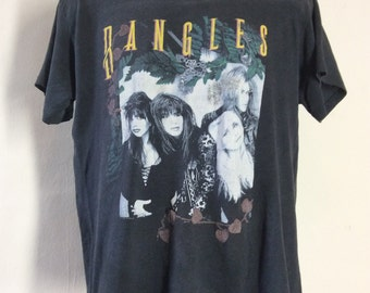 Vtg 1989 Bangles Everything Tour Concert T-Shirt Black 80s L/XL New Wave Rock Band
