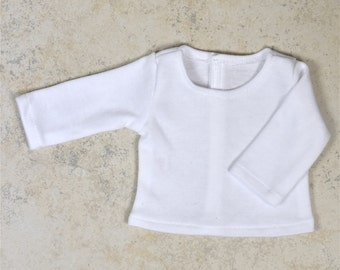 Basic Long Sleeve top 18 inch doll clothes Color White