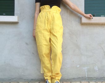 Vintage high waisted pants yellow