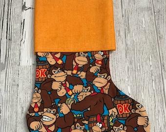 Donkey Kong stocking, games, stocking, gamer