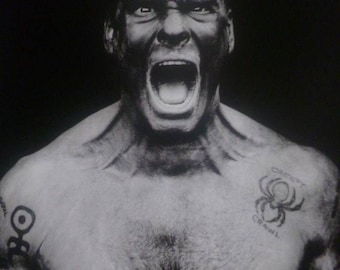 Henry Rollins, California, 1994 - Mounted Poster (26 x 23cm)