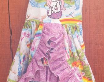 Sun dress - Unicorns and Rainbows (2T)