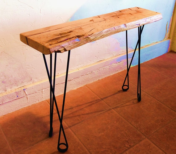 small console table hairpin legs narrow console table