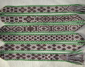 Handmade woven Lithuanian sash belt band gift accessory