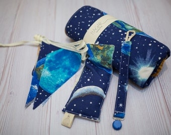 Space baby blanket etsy for Space minky fabric