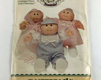 Preemie Cabbage Patch Doll Clothes Pattern Butterick #6981