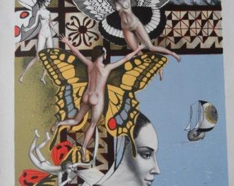 Surrealism - ALAUX J.P. - Lithograph num.  60/150