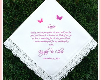 Flower girl Handkerchief from the Bride-Wedding Hankerchief-PRINTED-CUSTOMIZED-Wedding Gifts to flower girl-flower girl hankies-hankerchief