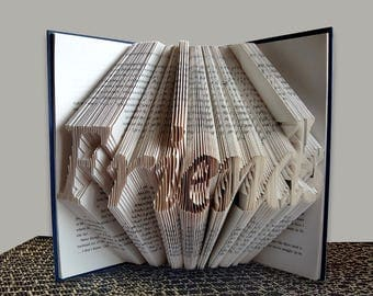 FRIENDS - Folded Book Art - Book Sculpture - Girlfriend Gift - Boyfriend Gift - Gift for Friends - Friends Folded Book - Forever Friends