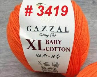 XL BABY COTTON Gazzal, yarn cotton, semi cotton, knitting crochet 50 grams - 105 meters