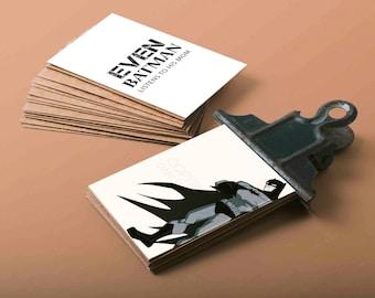 Batman Business Card with custom quotes Batman Party ideas