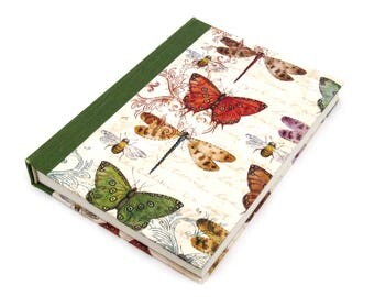 Entomology Journal A5 Notebook - Butterfly and Bee Specimen Diary
