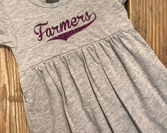 Baby Dress, Toddler Dress, Personalized Dress, Team Spirit Dress, School Spirit Dress, Customized Dress, School Toddler Dress