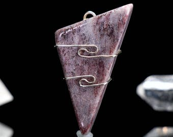 Vitalite Crystal Pendant .925 SS  Wire Wrap
