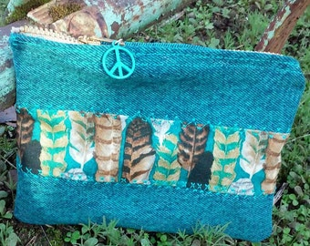 American Hippie Handmade Zippered Wallet