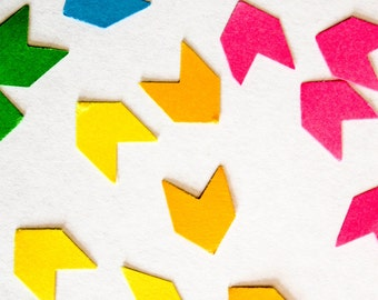 Hand punched card stock confetti