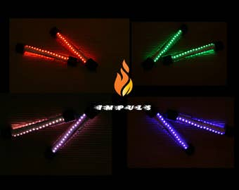 RGB Led POI!!! Create your Light show with IR remote controll