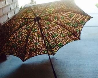 Vintage umbrella, multi colors