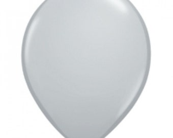Grey Round Balloons, Fashion Gray Balloons, Party Balloons, Party Decorations, Wedding Balloons, Kids Party, Monochrome Party, Modern Party