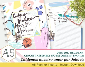 Cuidemos nuestro amor por Jehová - JW Circuit Assembly Printable Note sheets - 2016-2017 - Spanish