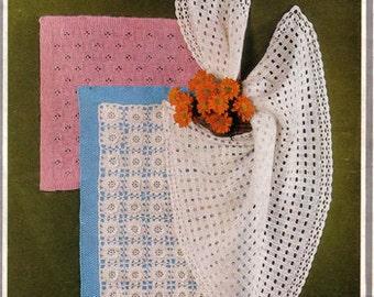Vintage Baby  shawls knitting/ crochet Pattern  PDF