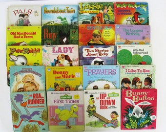 RESERVED FOR QUEENIE-thank you.  Set of 20 Vintage Children's Books, Tell a Tale Whitman