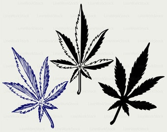 Cannabis dessin etsy - Dessin feuille cannabis ...