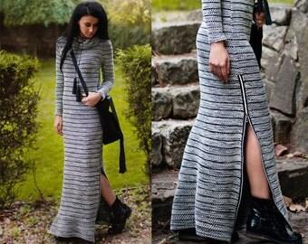 Long Women's Dresses / Maxi Dress / Winter Dress / Knitted Long Dress / Long Sleeve Dress / Handmade Dress / Comfortable Dress
