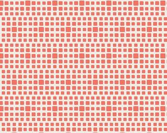 Lox - Squared Elements - by AGF Studios - Art Gallery Fabrics - SE-618 - Blenders - Basics - Stash Builder - Salmon