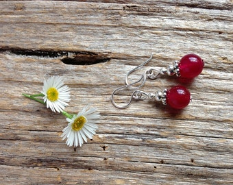 Rose Alexandrite Gemstone Earrings