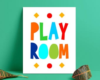 Play Room Printable, Kids Art Print, Kids Room Art Colorful, Play Room Print, Kids Room Decor, Kids Nursery Wall Art (W0153)