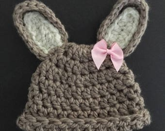 Newborn Bunny Hat, Crochet bunny hat, peter rabbit hat photo prop
